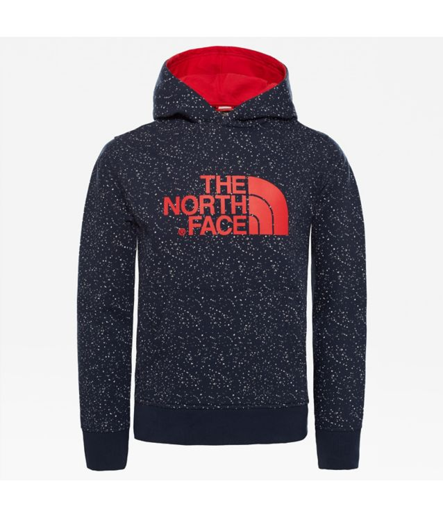 Tnf Sweat à Capuche New Peak Cosmic Blue Snow Print Pour Enfant