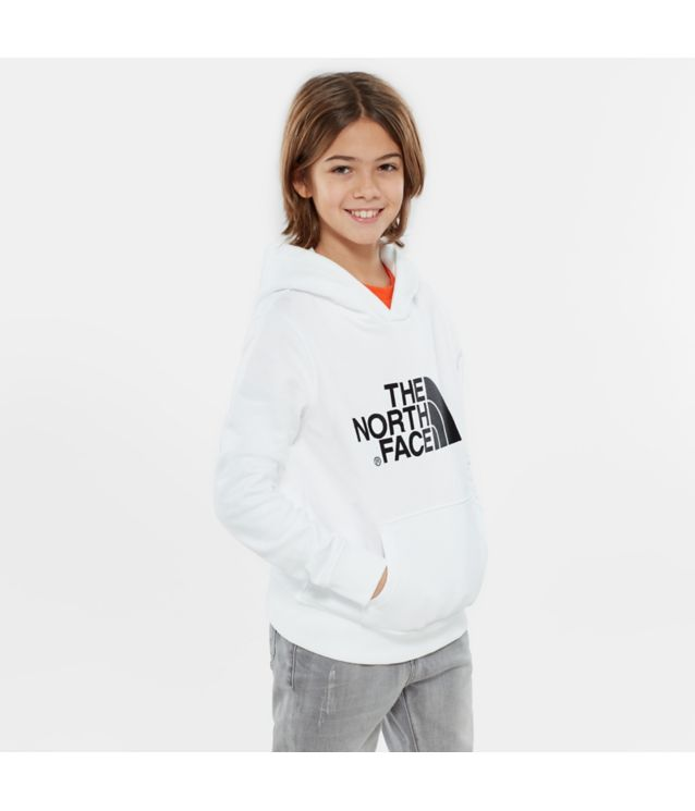 Tnf Sweat à Capuche Youth Drew Peak Tnf White/Tnf Black Pour Enfant