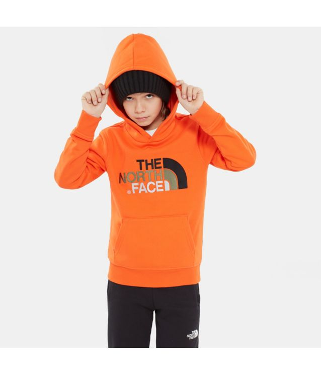 Tnf Sweat à Capuche Youth Drew Peak Persian Orange Pour Enfant
