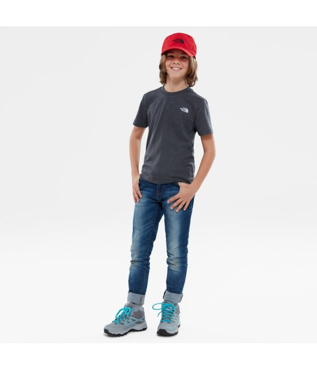 Tnf T-Shirt Simple Dome Tnf Dark Grey Heather/High Rise Grey Pour Enfant