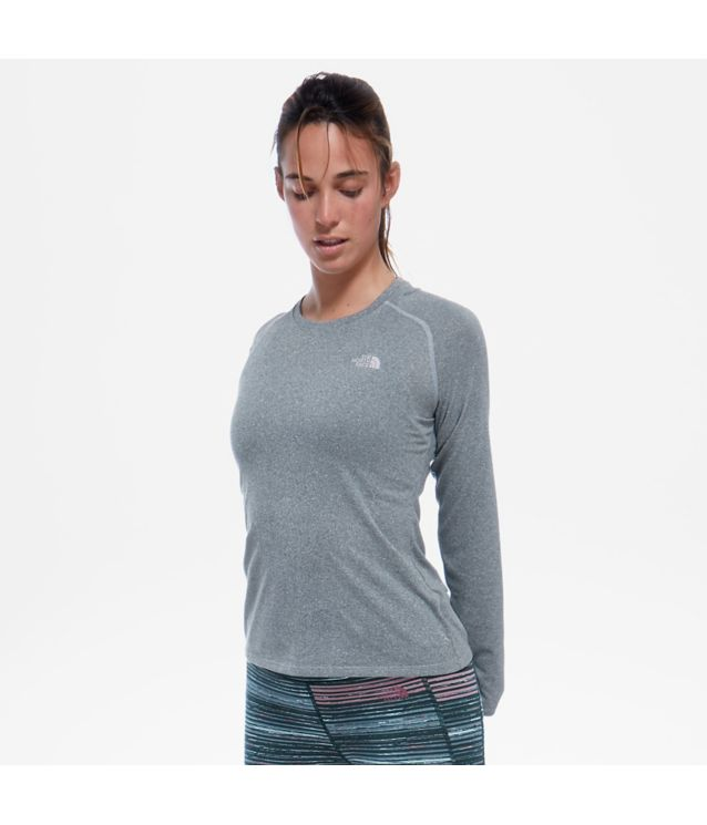 Tnf T-Shirt à Manches Longues Reaxion Amp Tnf Medium Grey Heather Pour Femme