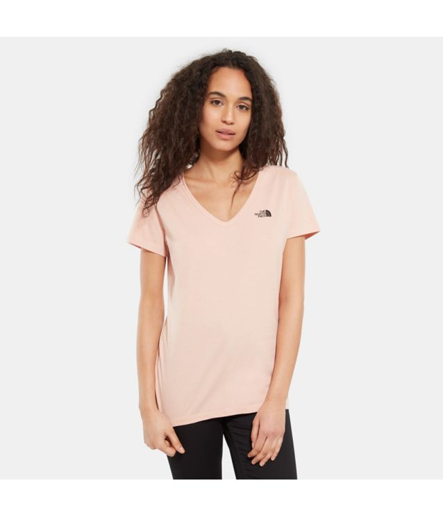 Tnf T-Shirt Manches Courtes Simple Dome Misty Rose Pour Femme