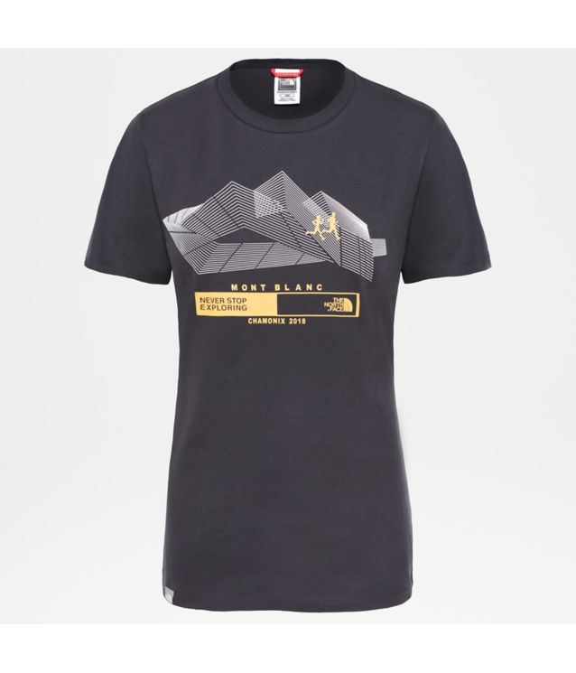 Tnf T-Shirt Run Chamonix Tnf Black Pour Femme