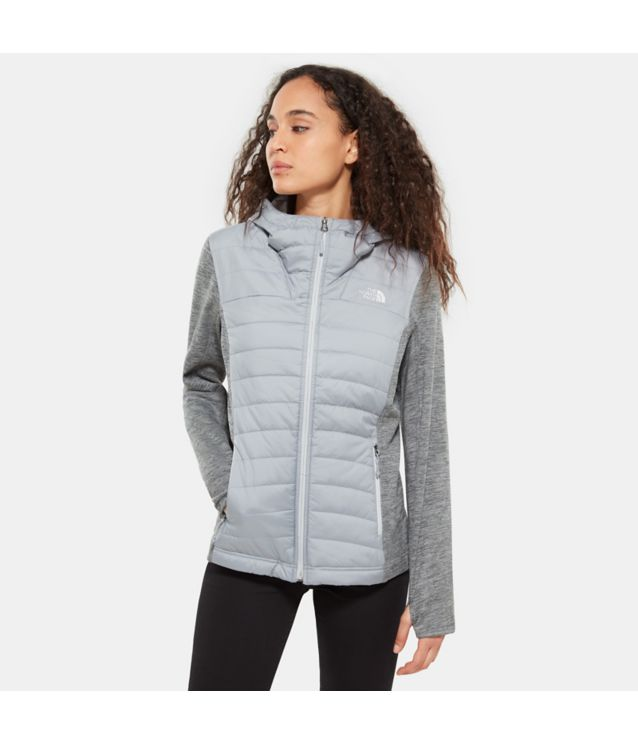 Tnf Veste à Capuche Mashup Mid Grey/Tnf Medium Grey Heather Pour Femme