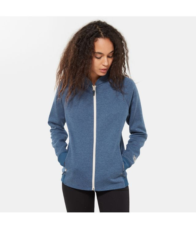 Tnf Veste Zippée Vista Tek Blue Wing Teal Heather Pour Femme