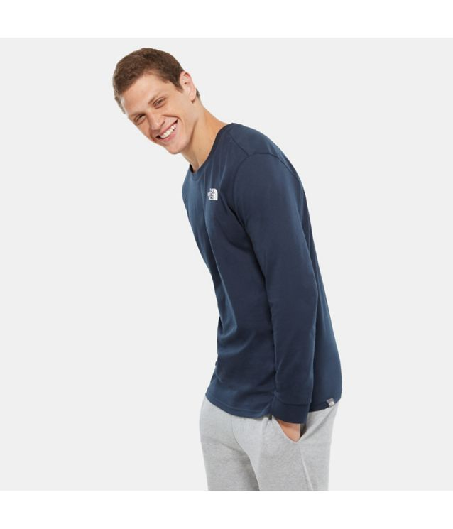 Tnf T-Shirt à Manches Longues Simple Dome Urban Navy Pour Homme