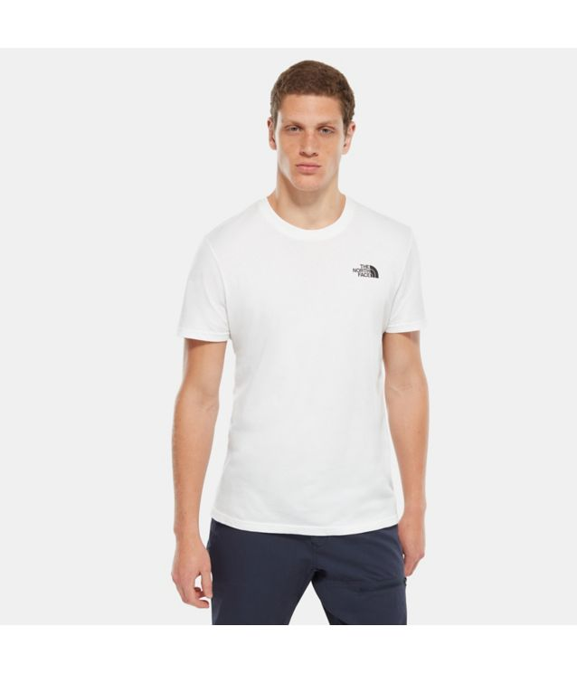 Tnf T-Shirt Manches Courtes Simple Dome Tnf White Pour Homme
