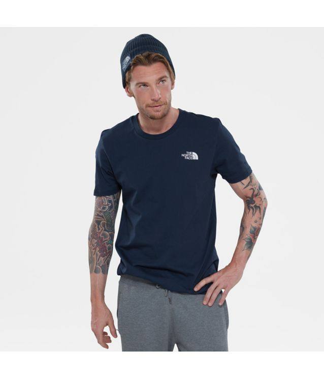 Tnf T-Shirt Manches Courtes Simple Dome Urban Navy/Tnf White Pour Homme