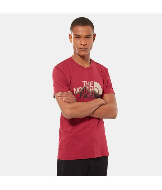 Tnf T-Shirt Mountain Line Rumba Red Pour Homme