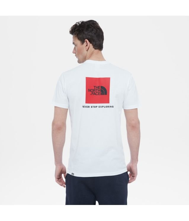 Tnf T-Shirt Red Box Tnf White Pour Homme