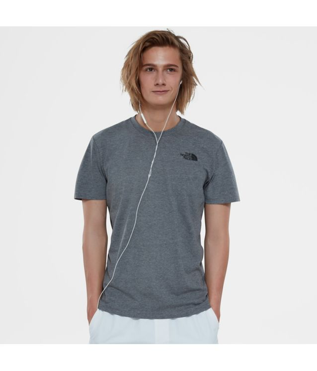 Tnf T-Shirt Red Box Tnf Medium Grey Heather Pour Homme
