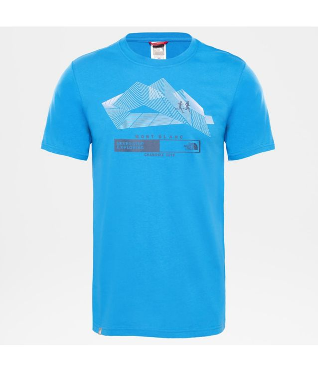 Tnf T-Shirt Run Chamonix Turkish Sea Pour Homme