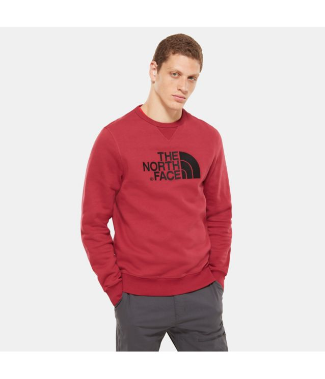 Tnf Pull-Over à Col Ras Du Cou Drew Peak Rumba Red Pour Homme