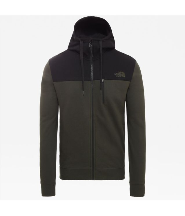 Tnf Sweat à Capuche New Peak Tech Rosin Green Pour Homme