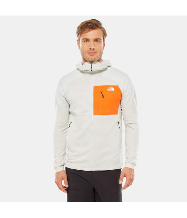 Tnf Veste à Capuche Impendor Grid Tin Grey/Persian Orange Pour Homme
