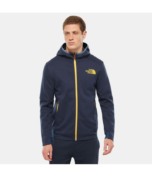 Tnf Veste à Capuche Zippée Vista Tek Shady Blue Heather Pour Homme
