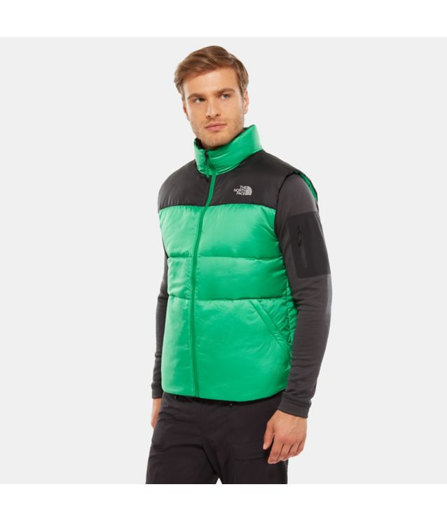 Tnf Gilet à Zip Compatible Nuptse Iii Primary Green/Tnf Black Pour Homme