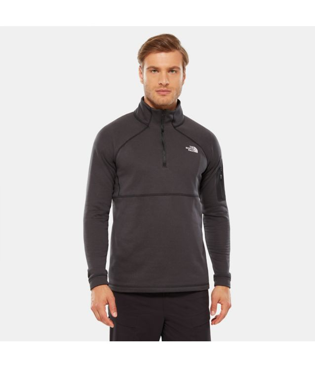 Tnf Pull-Over 1/4 Zippé Impendor Powerdry Tnf Black/Tnf Black Pour Homme