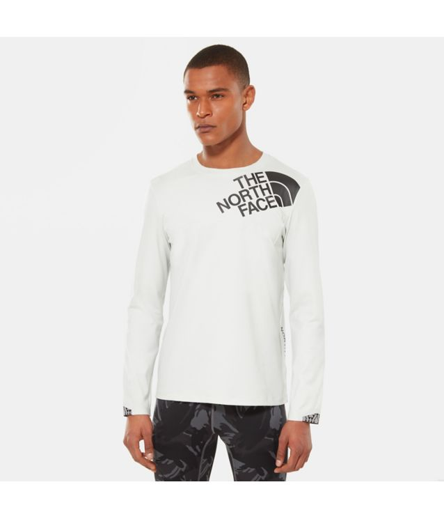Tnf T-Shirt Manches Longues Terra Metro Tin Grey Heather Pour Homme