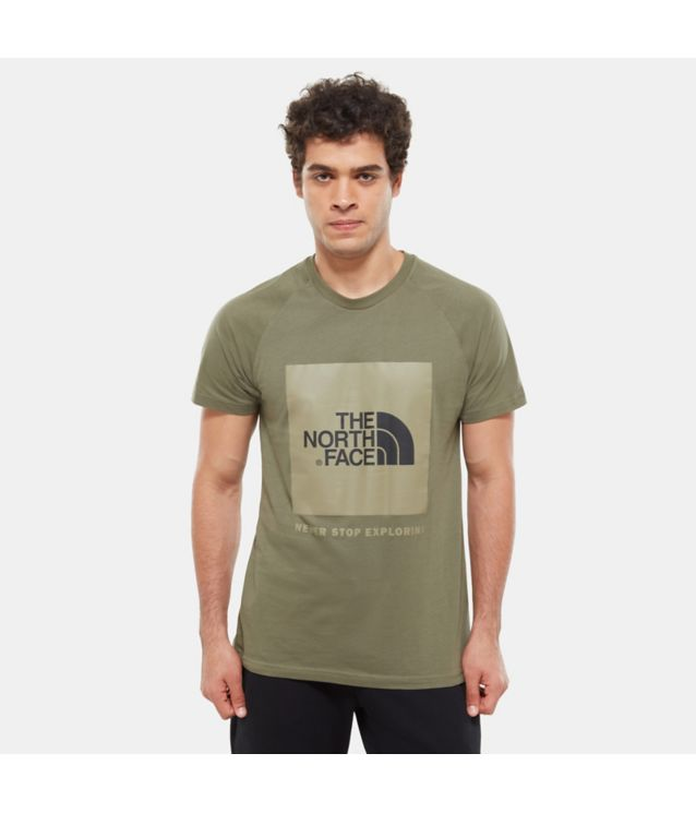Tnf T-Shirt Rag Red Box New Taupe Pour Homme