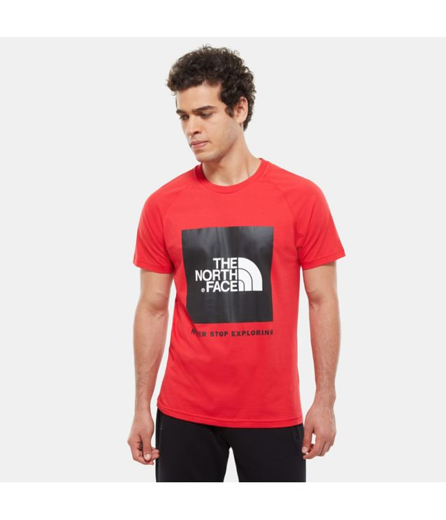 Tnf T-Shirt Rag Red Box Tnf Red Pour Homme