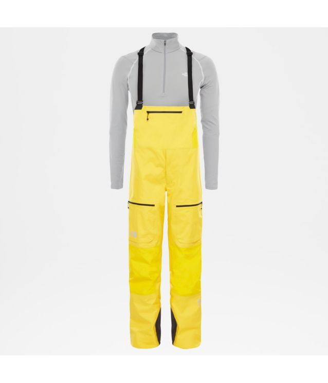 Tnf Salopette Zippée Summit L5 Gtx Pro Canary Yellow Pour Homme