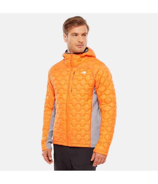 Tnf Veste à Capuche Hybride Impendor Thermoball™ Persian Orange/Mid Grey Pour Homme