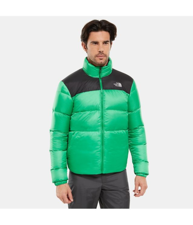 Tnf Veste à Zip Compatible Nuptse Iii Primary Green/Tnf Black Pour Homme