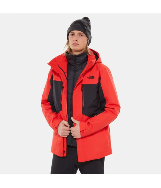 Tnf Veste Clement Triclimate® Fiery Red/Tnf Black Pour Homme