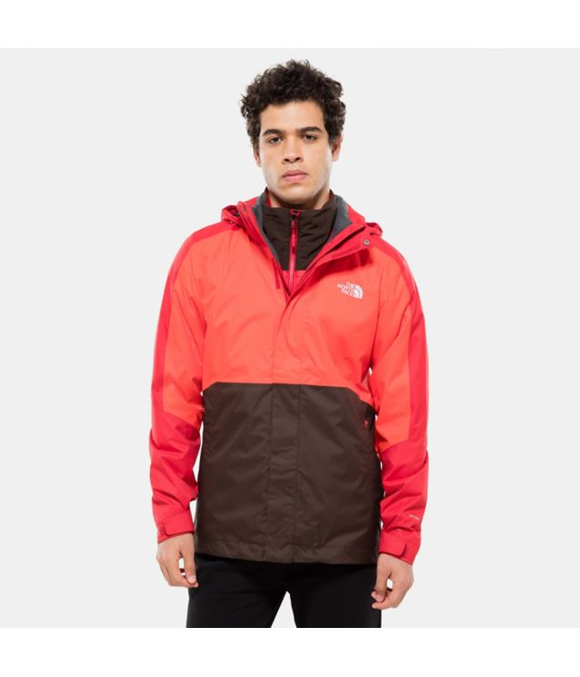 Tnf Veste Kabru Triclimate Rage Red Pour Homme