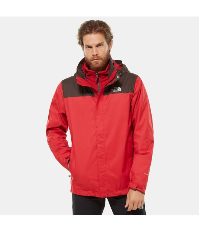 Tnf Veste Evolve Ii Triclimate® Bittersweet Brwn/Rage Red Pour Homme